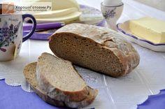 Хлеб из трех видов муки на закваске  Автор: Людмилa Семенюк
