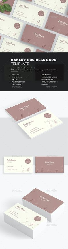 Bakery Business Card by bourjart_20 | GraphicRiver