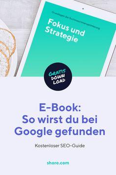 Hier lernst du die Grundlagen der Suchmaschinenoptimierung. Du möchtest bei Google für bestimmte Begriffe ganz oben stehen? Du willst neue Kunden gewinnen? Dann lad dir unser kostenloses E-Book herunter!