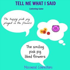 Tell Me What I Said Listening Game Teaching Good Listening Skills Promotes The Development Of