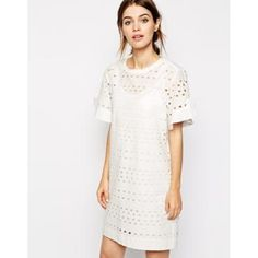 Chloesque-Kleid - Weiß