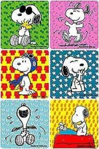 24 Snoopy ( Peanuts ) Stickers, Party Favors
