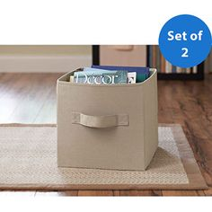 Better Homes and Gardens Collapsible Fabric Storage Cube, Set of 2