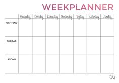 weekplanner printable - Google zoeken