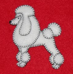 handmade felt ornaments | Poodle Ornament-Magnet-handmade felt-unique design