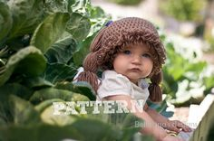 SALE! PATTERN: Cabbage Patch Wig Hat many sizes