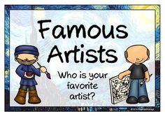 With a title page, here is a set of 12 printables that give information and facts about famous artists. Artists include: Picasso, van Gogh, Monet, Warhol, Matisse, O'Keeffe, Michelangelo, Munch, da Vinci, Rembrandt, Pollock and Raphael. Visit our TpT store for more information and for other classroom display resources by clicking on the provided links.