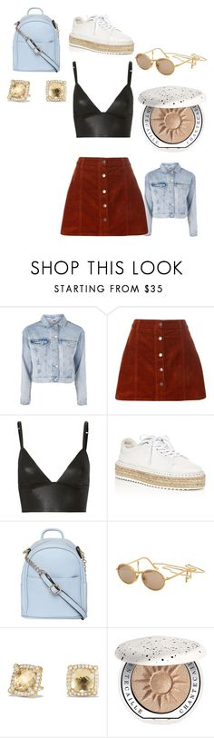 """."" by lauravf ❤ liked on Polyvore featuring Topshop, Dorothy Perkins, T By Alexander Wang, rag & bone, Moschino, David Yurman and Chantecaille"