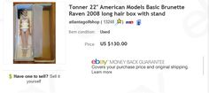 Tonner American Models 22 inch Raven doll sold for $130