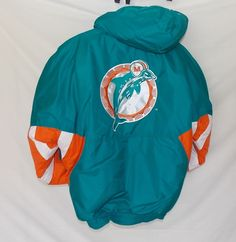 Starter Jacket Classic Throwback Team Collection MIAMI DOLPHINS Puffy Mens Large #StarterTeamCollection #MiamiDolphins