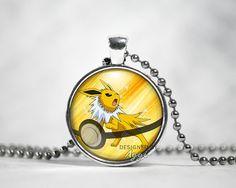 Jolteon Pendant Eevee Evolutions Pokemon door GottaCatchEmByAggi