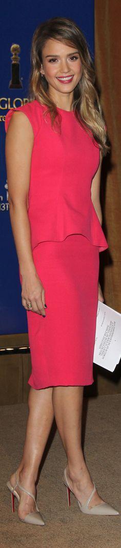 Jessica Alba wearing Christian L shoes