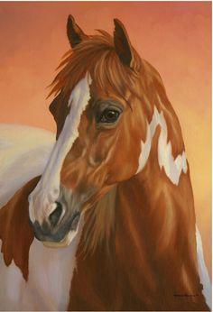 Painted Sunset Horse Garden Flag