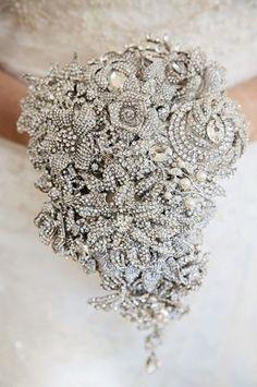 Diamante & Crystal Bridal Brooch Bouquet