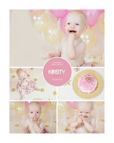 Cake Smash Storyboard Photoshop Template, photographers marketing template, INSTANT DOWNLOADABLE by DigiStock on Etsy