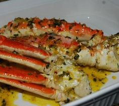 Break the crab legs and marinate with salt and dry white wine. Spread the butter on aluminum foil. Combine together onion,garlic,chili and eggs. Put atop of butter. Put the crab legs on the top of mixture. Mix the ingredient sauce and pour on top of the crabs. Arrange aluminum foil in turbo oven. Roast crab …