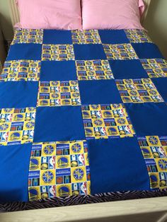 Reversible Golden State Warriors Quilted Throw by LoveErinMarie on Etsy