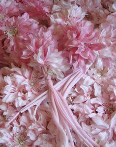 Vintage millinery flowers ~ pink dahlia sprays
