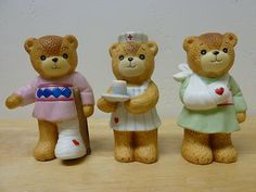 Enesco Lucy & Me 1980/1985 Lucy Rigg Nurse and Patient Bears