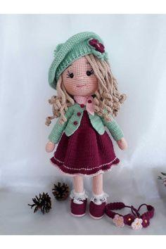 Crochet Dolls Free Patterns, Crochet Doll Pattern, Amigurumi Patterns, Doll Patterns, Crochet Toys, Cute Crochet, Newborn Toys, Cute Toys, Christmas Gifts For Kids