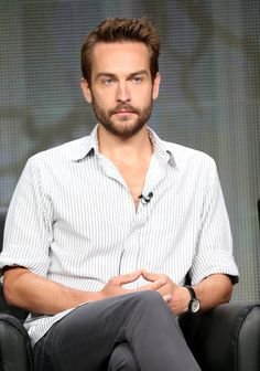 """Actor Tom Mison speaks onstage during the """"Sleepy Hollow"""" panel discussion at the FOX portion of the 2013 Summer Television Critics Association tour - Day 9 at The Beverly Hilton Hotel on August Get premium, high resolution news photos at Getty Images Tom Mison, Uk Actors, Actors & Actresses, British Actors, Sleepy Hollow, Nico Mirallegro, Luke Grimes, Andrew Mccarthy, Jean Smart"""