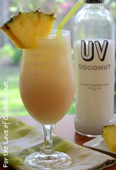 Coconut Vodka and Pineapple Juice