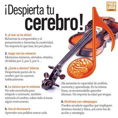 Despierta tu cerebro - INVDES Study Techniques, Emotional Intelligence, Neuroscience, Study Tips, Good Advice, Self Improvement, Healthy Tips, Good To Know, Personal Development