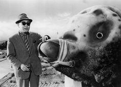 Eiji Tsuburaya sur le tournage de Mothra (Ishiro Honda, 1961)