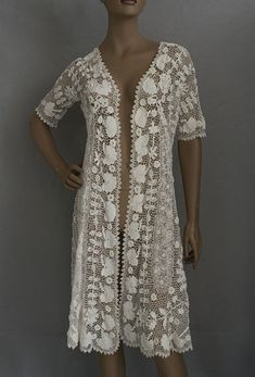 Irish crochet lace coat /dress, c.1920s