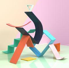 Creative Art, Ogn, Project, Transform, and Wall image ideas & inspiration on Designspiration Mondrian, Memphis Design, 3d Artwork, 3d Design, Graphic Design, Installation Art, Art Direction, Illustration, Design Inspiration