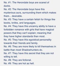 How you can identify a Herondale..... Jace and Will add conceded jerks to that list and its all good.
