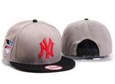 Casquette NY New York Yankees MLB Snapback Gris Noir : Casquette Pas Cher