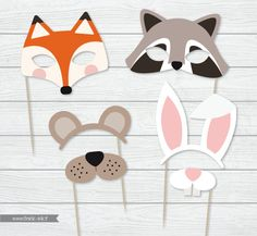 Woodland photo booth instant download