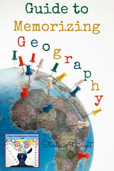 This Guide to Memorizing Geography from Starts At Eight offers lists and resources for helping your children memorize basic geography facts such as continents, countries, states, capitals, and major land forms. Teaching World Geography, Basic Geography, Geography Activities, Geography Lessons, Teaching History, Geography Worksheets, Dinosaur Activities, Math Worksheets, Educational Activities