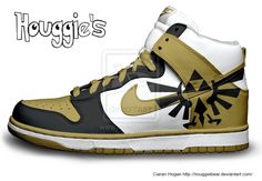 Hylian Crest Nike Dunks by HouggieBear on DeviantArt