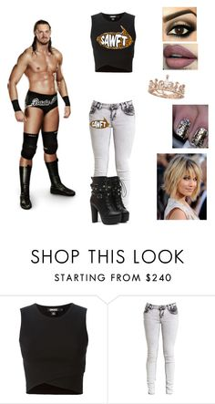 """Ringside for Colin Cassady"" by mrsromanreigns916 ❤ liked on Polyvore featuring DKNY and Reyes"