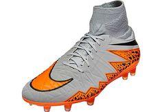 Nike Hypervenom Phatal II DF FG Soccer Cleats - Silver Storm