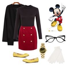 """""""Winter Mickey"""" by feeshion ❤ liked on Polyvore featuring AX Paris, Evans, Retrò, Disney, White + Warren, women's clothing, women, female, woman and misses"""