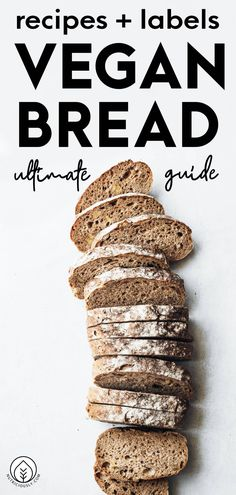 Have you ever wondered whether bread is vegan? What about sourdough or white bread? Find out what to look out for on the label when choosing your vegan bread, which brands to pick and how to make any bread recipe vegan at home with our vegan bread guide! Make delicious bread a part of your healthy plant-based diet and pick from our easy beginner recipes, totally eggless and rich in fiber. Vegan Baking Recipes, Whole Food Recipes, Vegetarian Recipes, Healthy Eating Tips, Easy Healthy Recipes, Easy Recipes For Beginners, Vegan Nutrition, Vegan Bread, How To Eat Better