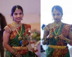 Bride in Kundan Work Blouse