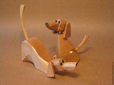 Купить собачки декоративные - коричневый, игрушка деревянная, сувенир, подарки, собака, бук