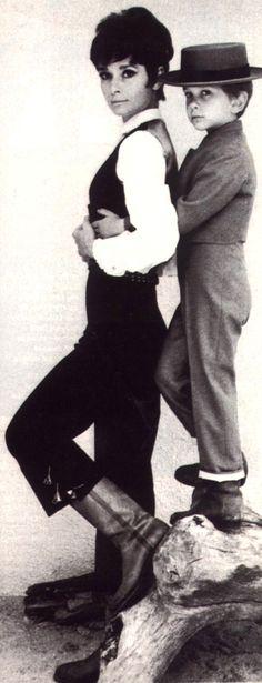 Audrey Hepburn and Luca , her son