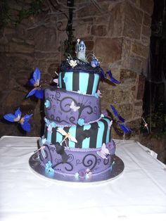 My Version of the pink cake box nightmare before christmas wedding cake