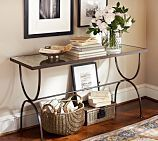 Willow Antique Mirror & Metal Console Table, Aged Bronze finish