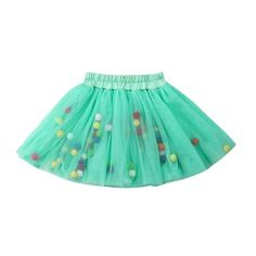 Little Pom Pom Balls Tulle Skirt from kidspetite.com!  Adorable & affordable baby, toddler & kids clothing. Shop from one of the best providers of children apparel at Kids Petite. FREE Worldwide Shipping to over 230+ countries ✈️  www.kidspetite.com  #girl #infant #newborn #baby #skirts