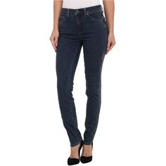Miraclebody Jeans Five-Pocket Skinny Minnie w/ Lazer Print and Metalic... ($48) ❤ liked on Polyvore featuring jeans, blue, faded skinny jeans, skinny leg jeans, print skinny jeans, faded jeans and blue skinny jeans