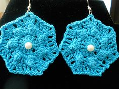 Ocean Blue Beach Crochet earrings! LOVE