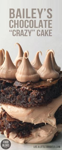 "BAILEY'S CHOCOLATE ""CRAZY"" CAKE"