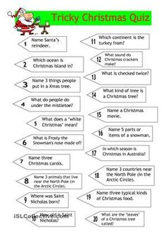 Tricky Christmas quiz for older children and teenagers (or adults) with not so easy Christmas questions. Simple Christmas, Family Christmas, Winter Christmas, Christmas Crafts, Christmas Ideas, Christmas Quiz For Kids, Christmas Party Games For Adults, Easy Christmas Trivia, Christmas 2019
