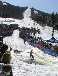 """Family Skiing 101: spring skiing tips like """"pond skimming is your last run!"""" your ski boots will be very wet!   http://www.familyskitrips.com/family/spring_ski_tips.htm"""